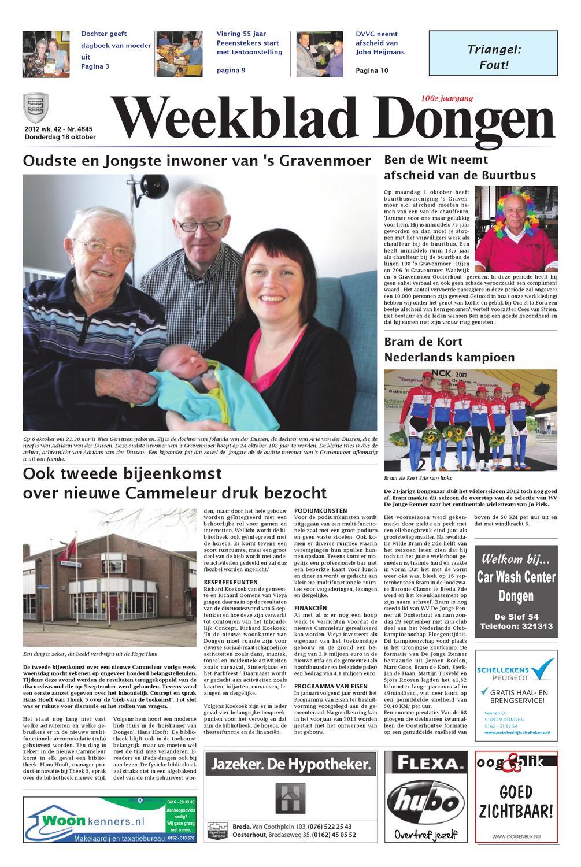 Weekblad voor dongen b 18 10 2012 by uitgeverij em de jong for De lantaarn rotterdam