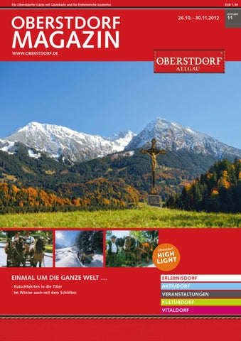 Oberstdorf Magazin November 2012