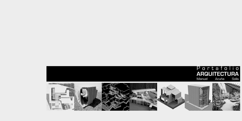 Portafolio arquitectura by manuel acu a issuu for Portafolio arquitectura
