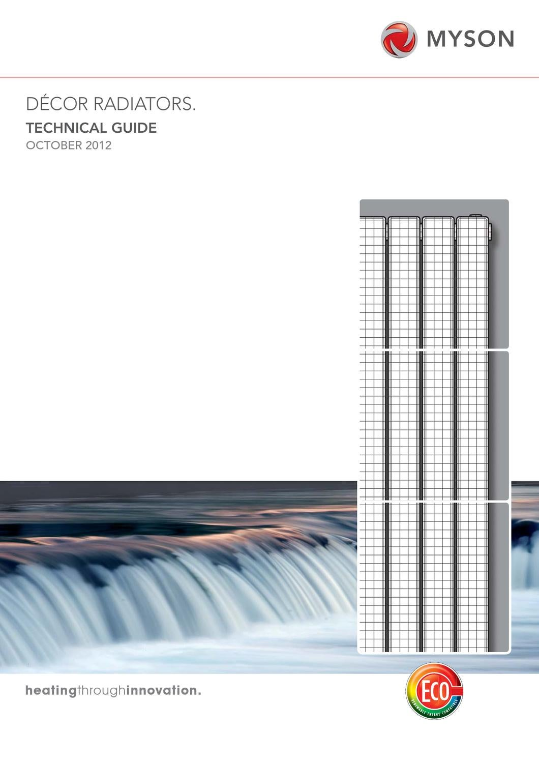 Myson decor radiators technical guide by myson issuu for Myson decor
