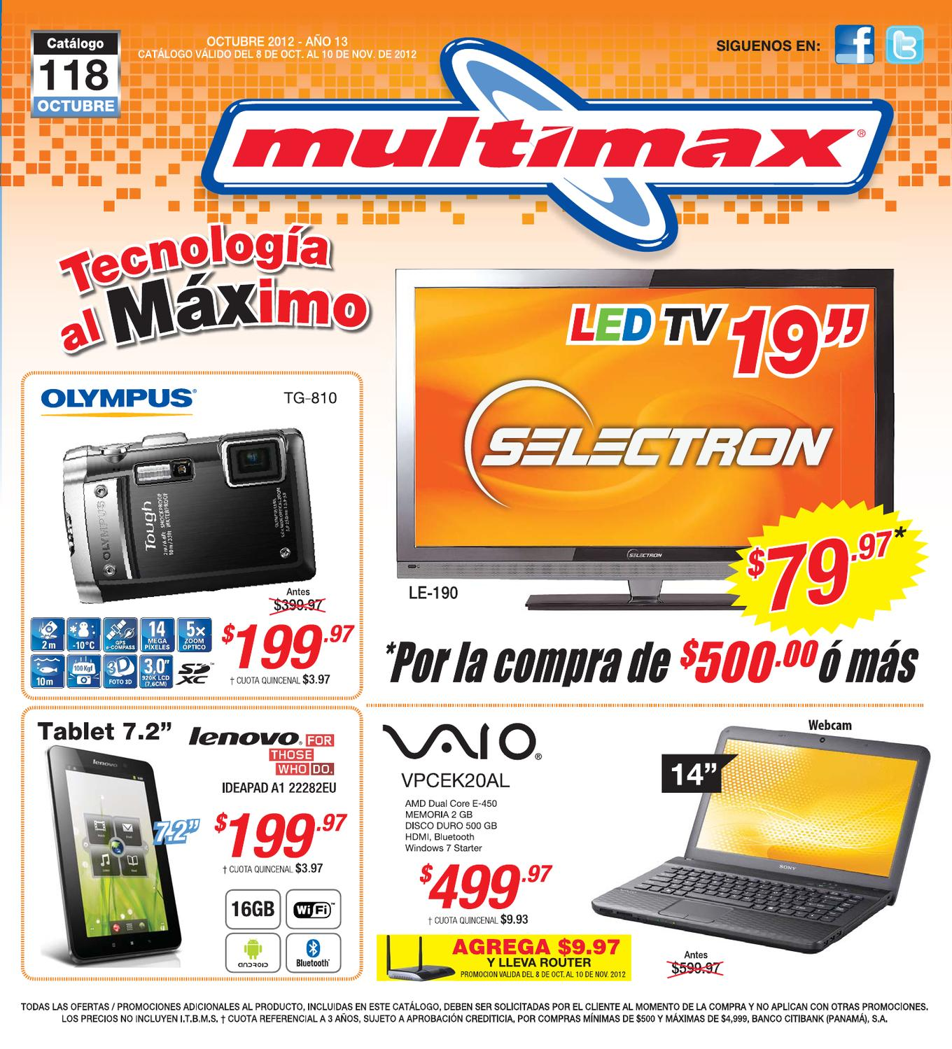 Catalogo multimax 118 by adondeir panama issuu - Www latiendaencasa es catalogo ...