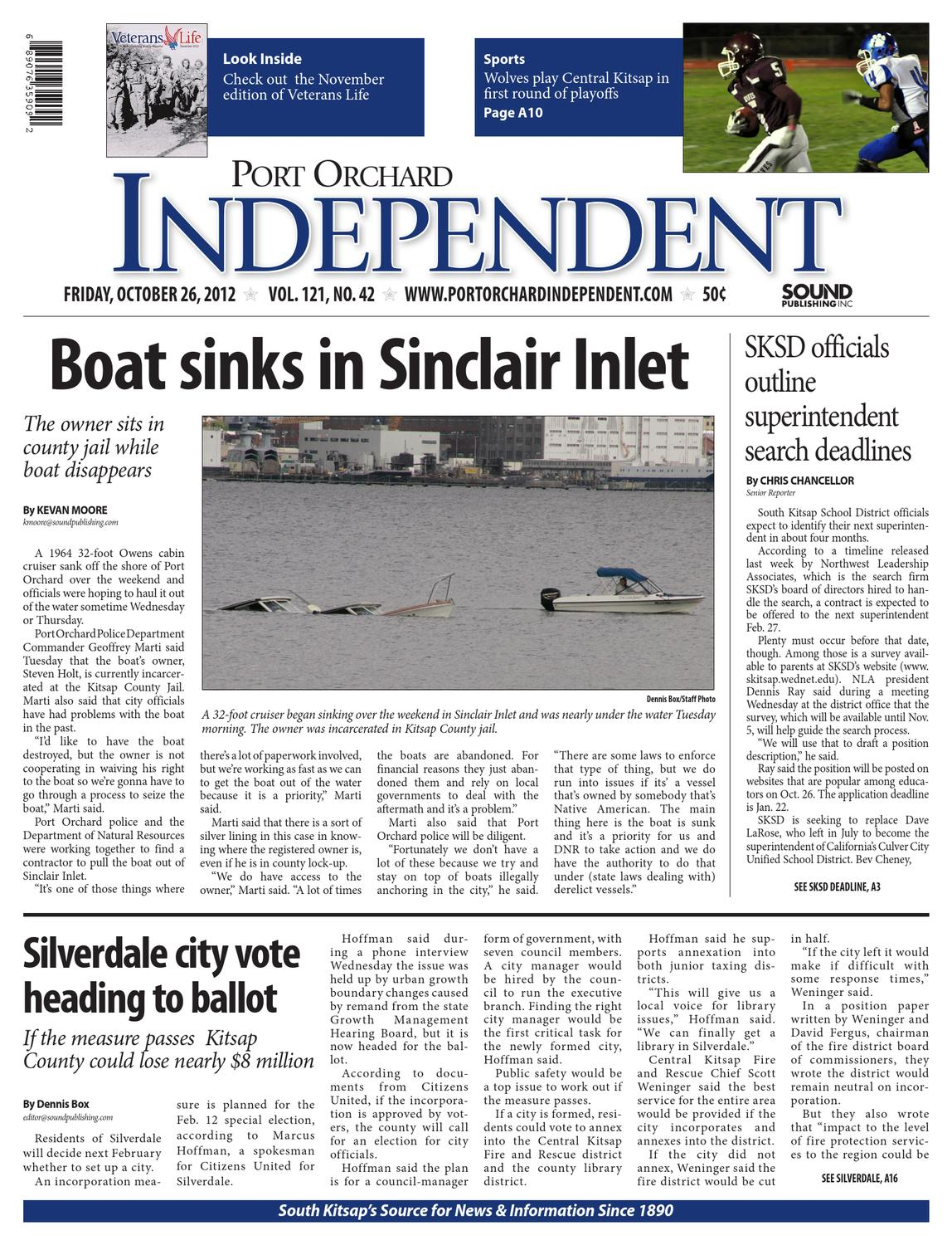 Port Orchard Independent October 26 2012 By Sound Publishing Issuu