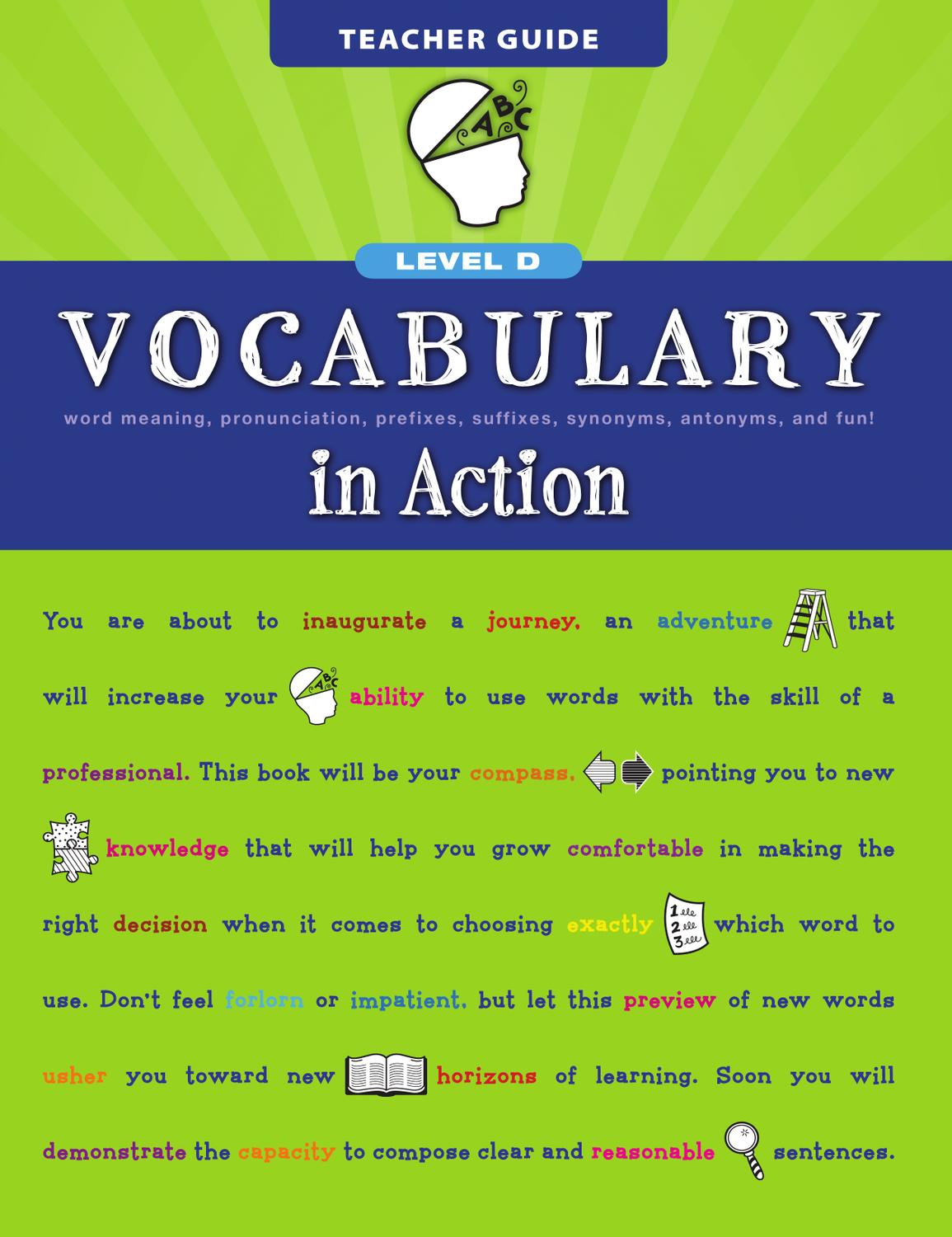 Vocabulary In Action Level D By Loyola Press Issuu