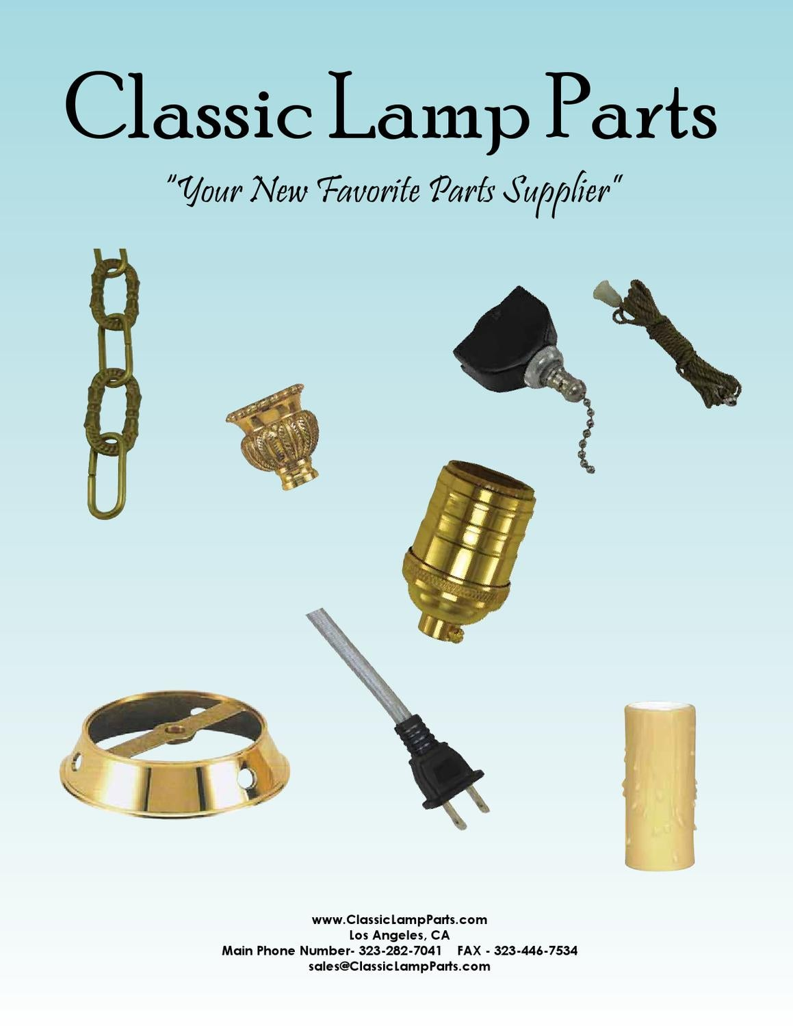 Lighting Catalog By Classic Lamp Parts Issuu