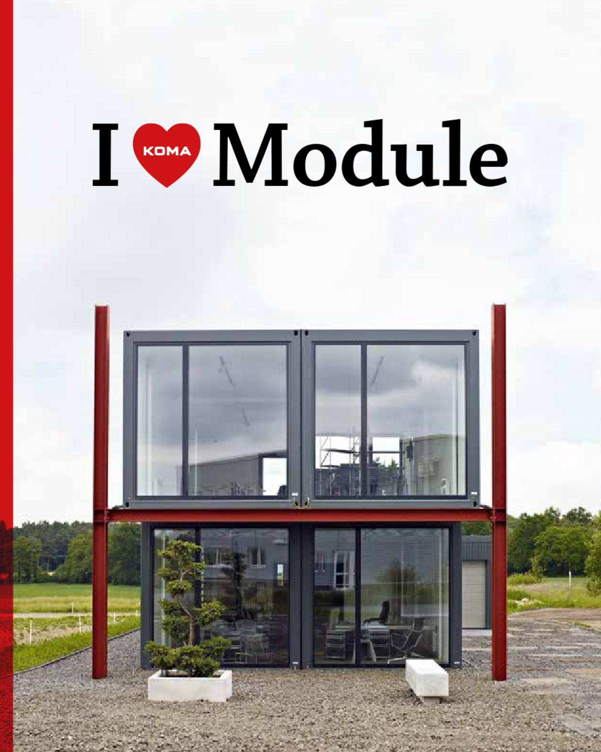 I love module by koma modular issuu for Design wohncontainer