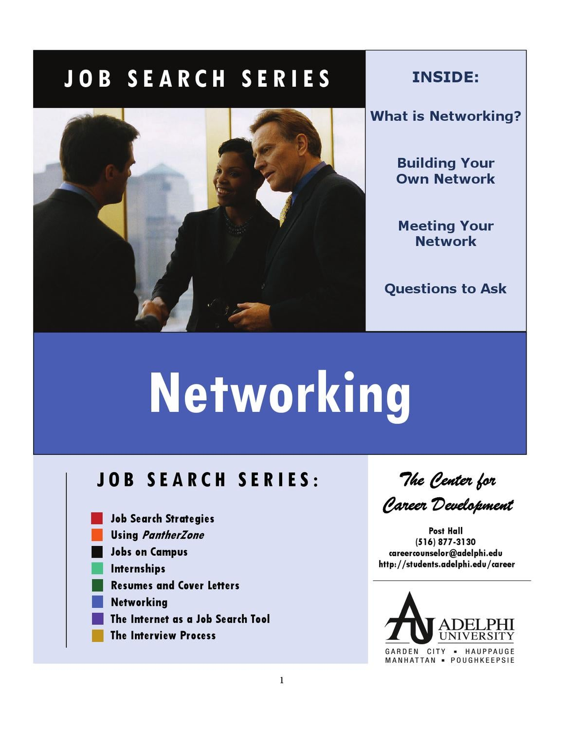job search series networking by adelphi university issuu