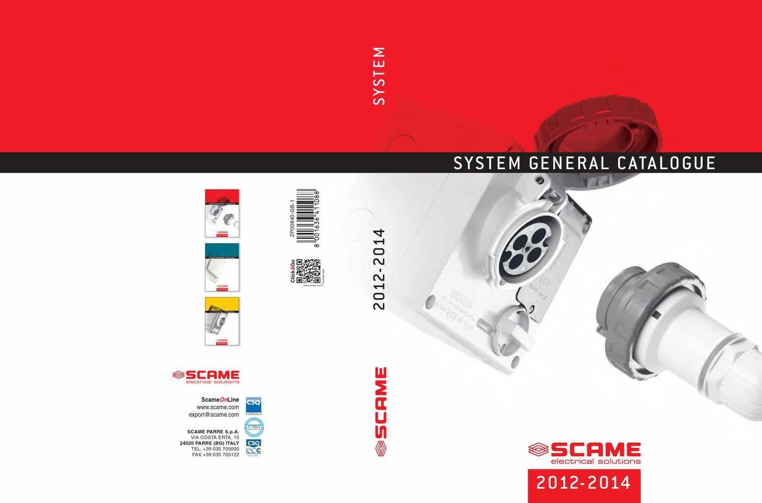 General Catalogue 2012 2014 System English By Scame