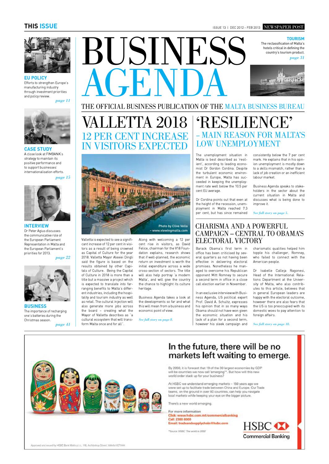 Business agenda issue 13 by malta business bureau issuu for Powers bureau issue 13