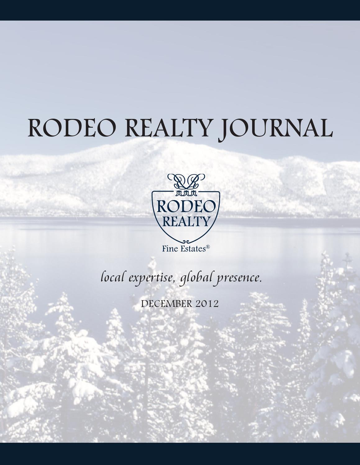 Rodeo Realty Decemeber Magazine By Rodeo Realty Issuu