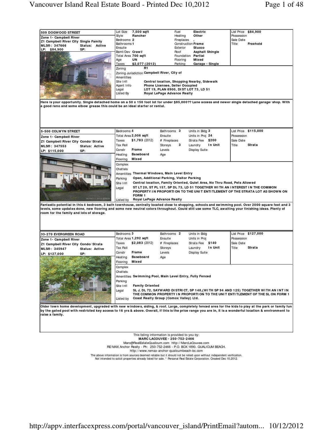 Foreclosure Vancouver Island Bc