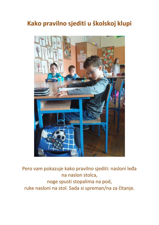 Kako pravilno sjediti u školskoj klupi by Dubravka Petkovic - issuu