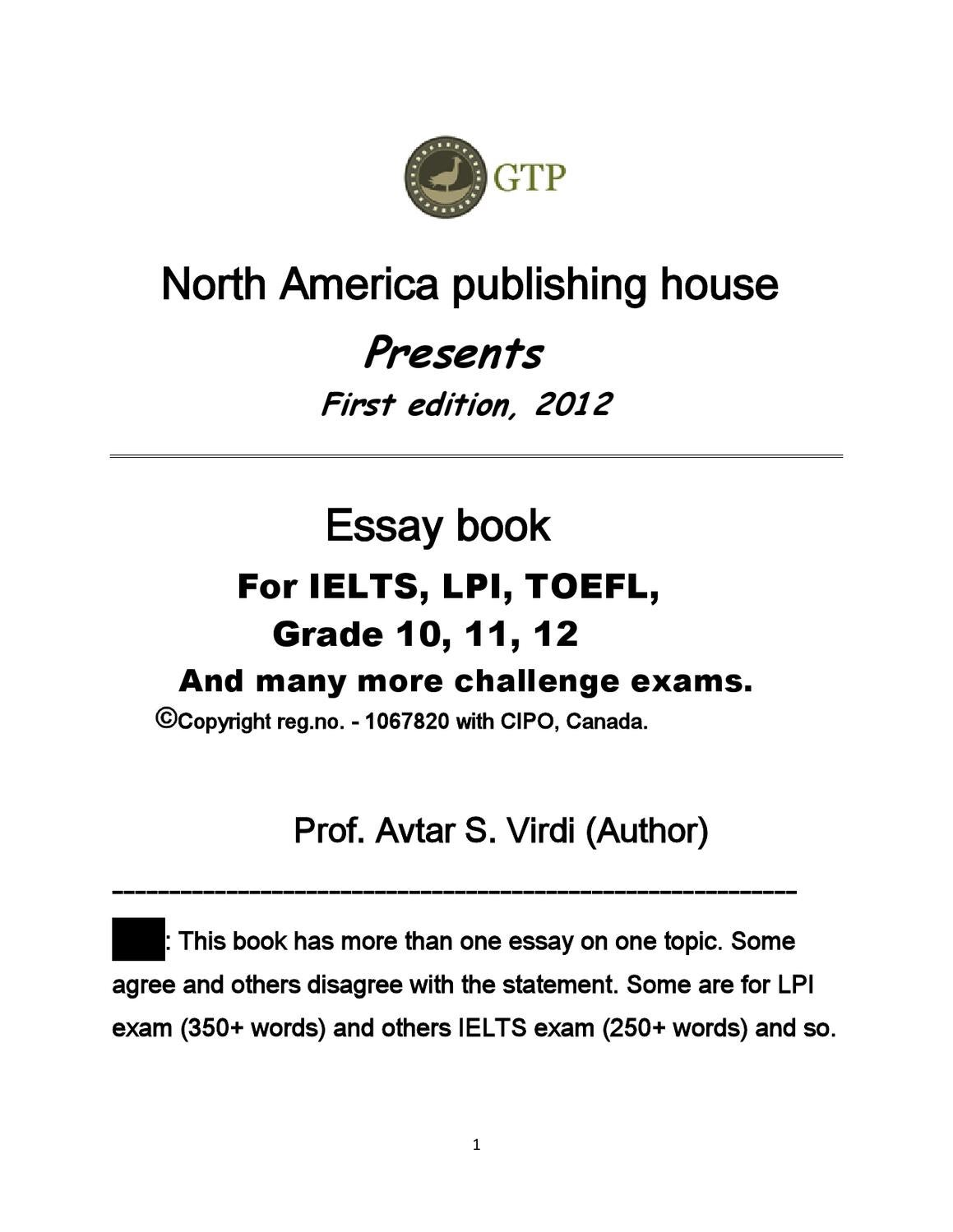 toefl essay topic Toefl ® research topics browse recent toefl ® research appearing in independent and ets-published works in (such as essays and speech) on the toefl ibt test.