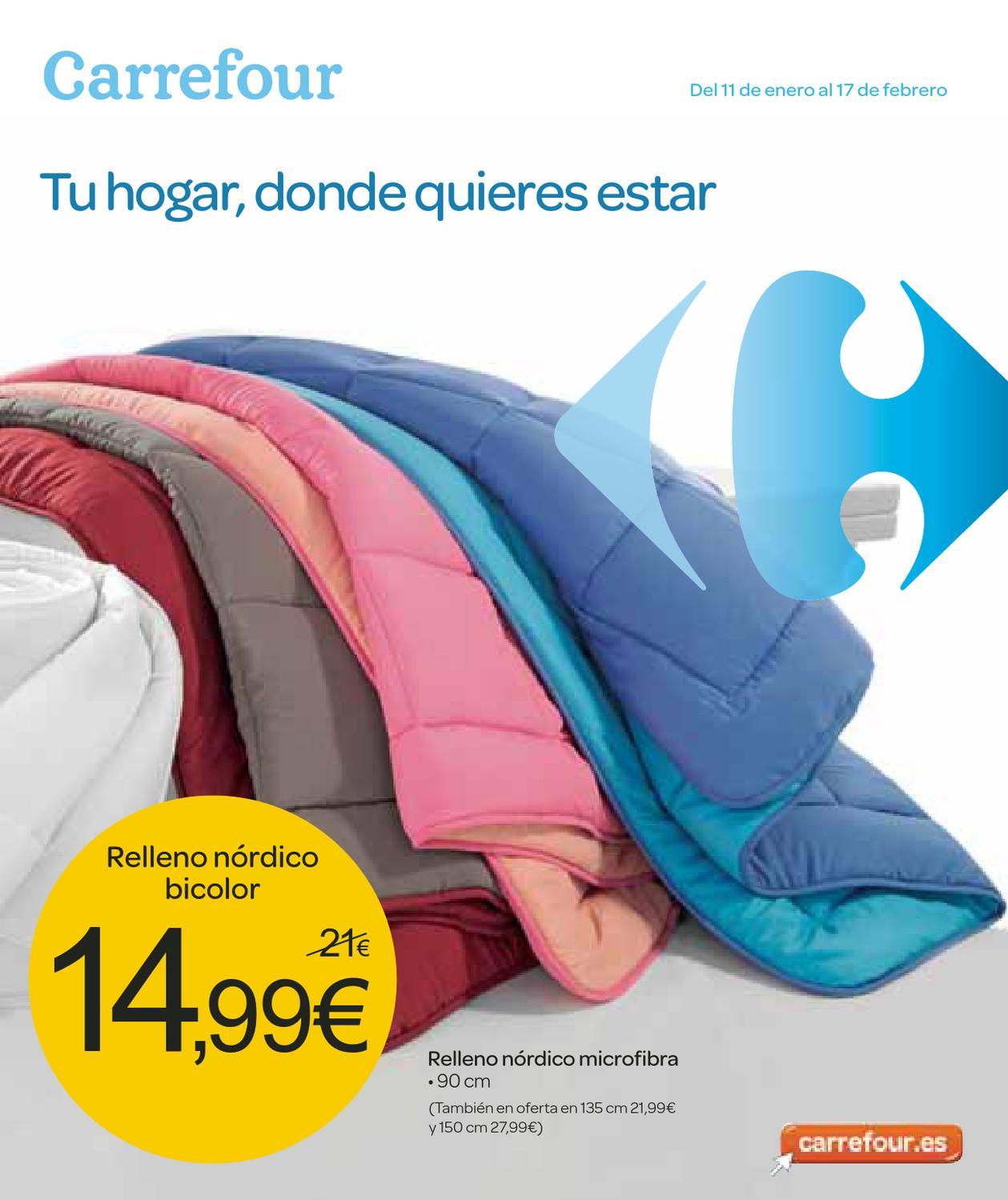 Carrefour catalogo ofertas para el hogar by hackos ecc issuu - Oferta edredones nordicos ...