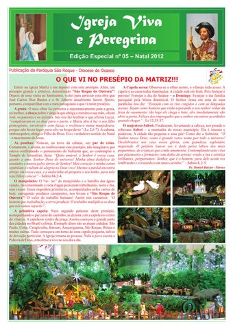 [Igreja Viva e Peregrina – Edição Especial de Natal 2012]