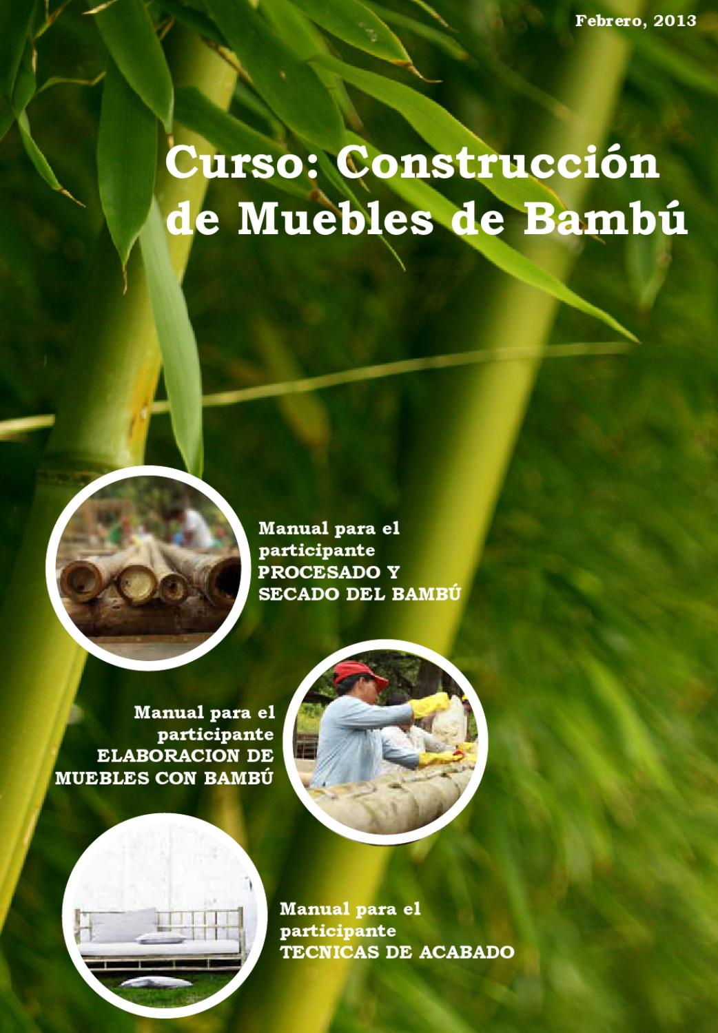Manual de construcci n de muebles de bamb by omar caldera for Muebles de bambu y mimbre