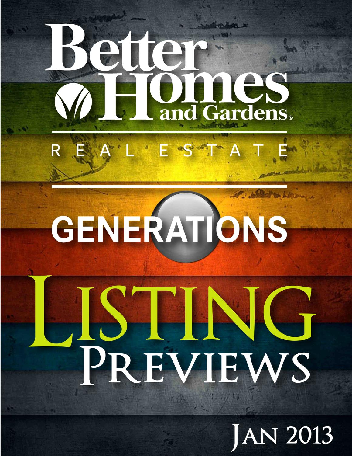 Listing Previews Jan2013 By Better Homes And Gardens Real Estate Issuu
