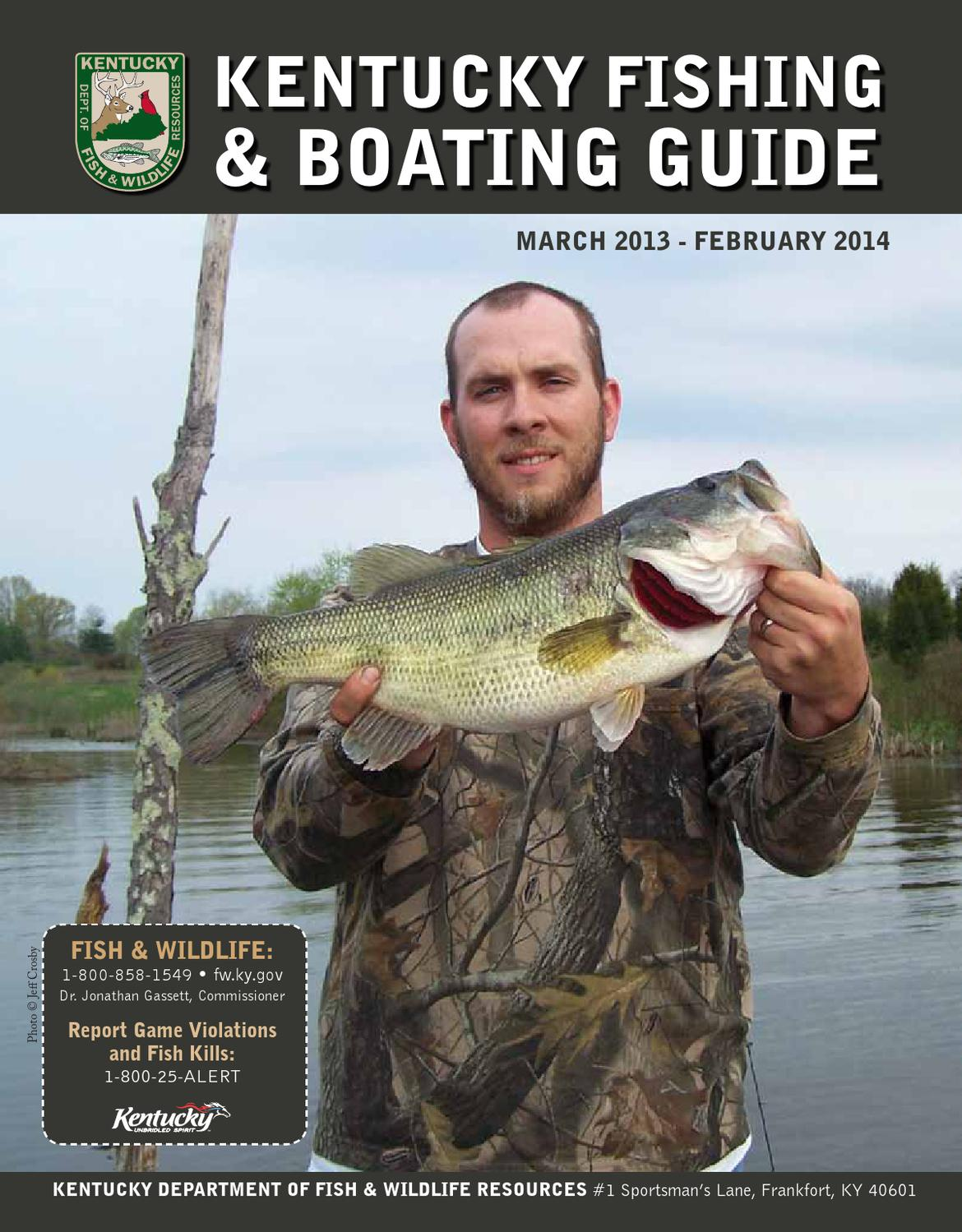 ky fishing and boating guide 2013 2014 by kentucky