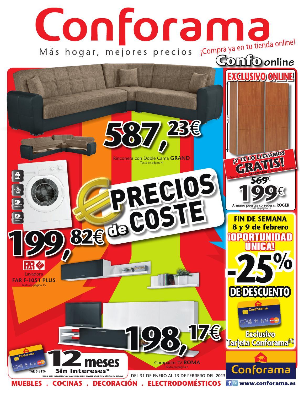 Catalogo conforama precio de coste febrero 2013 by jhonny - Catalogo de conforama ...