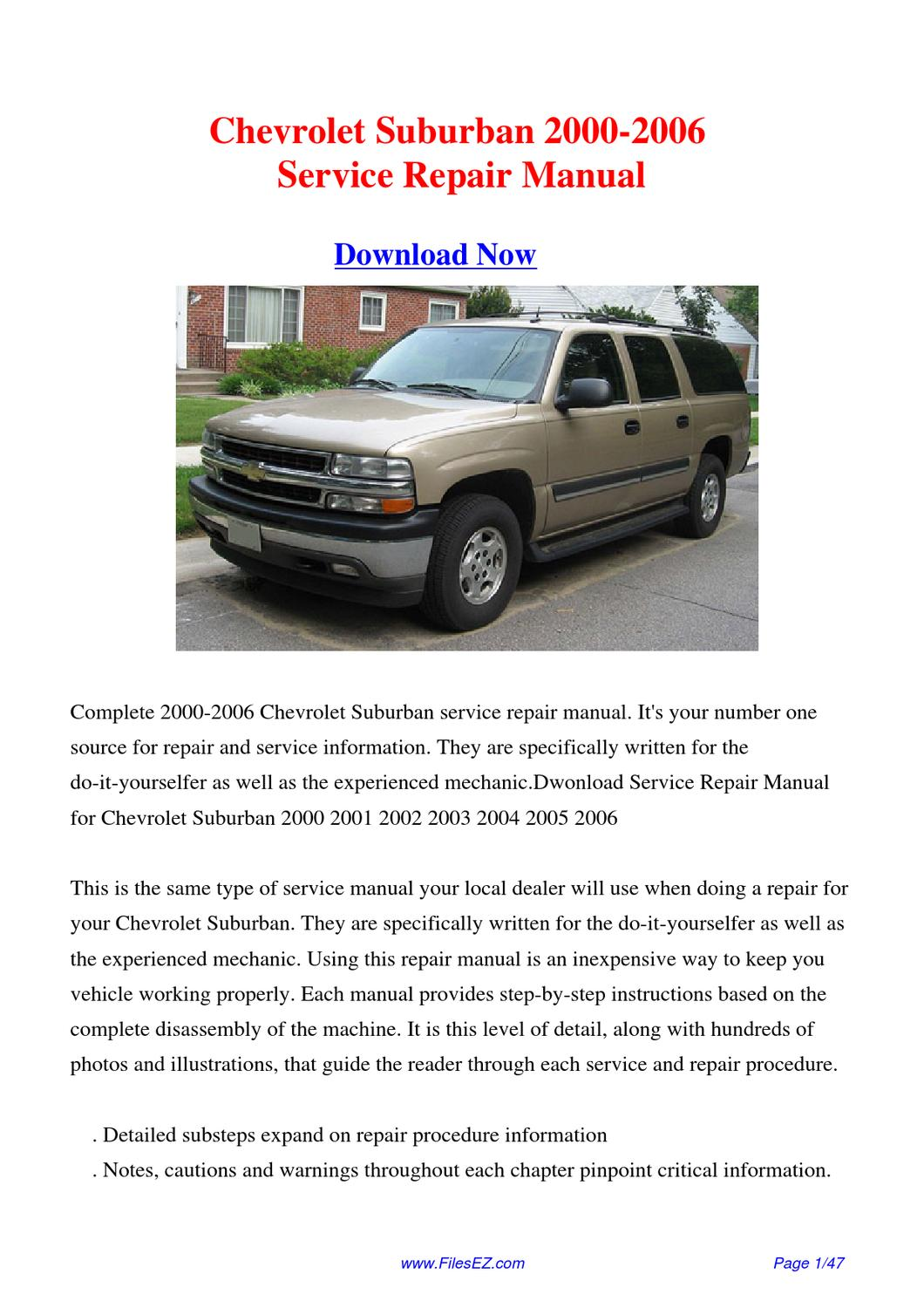 1999 chevy suburban repair manual pdf rh aeha org Truck Manual Factory  Repair Manuals