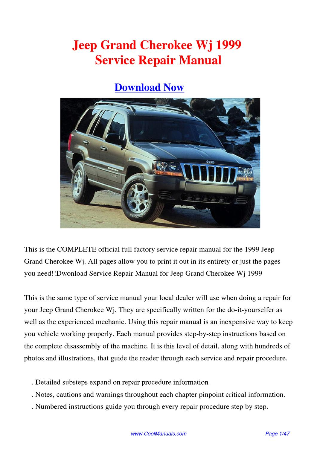 Jeep Grand Cherokee 1999 Manual Guide