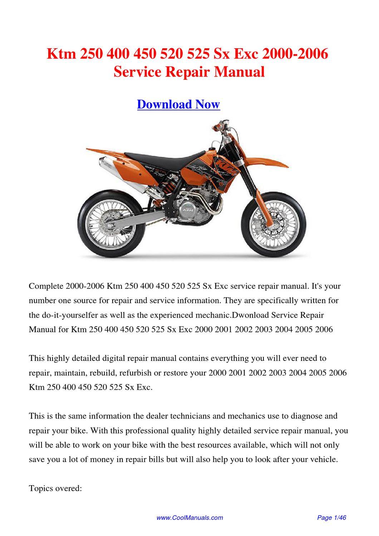 2000 2006 ktm 250 400 450 520 525 sx exc workshop manual by hong ling issuu polaroid sx 70 manual pdf sx700 manual
