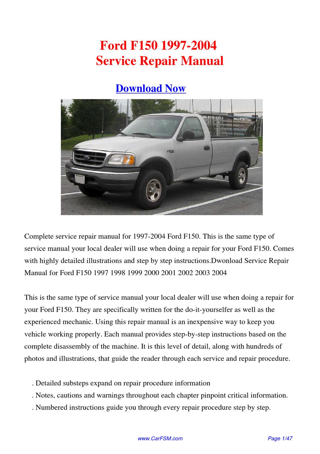 download 1997 2004 ford f150 service repair manual by gong. Black Bedroom Furniture Sets. Home Design Ideas