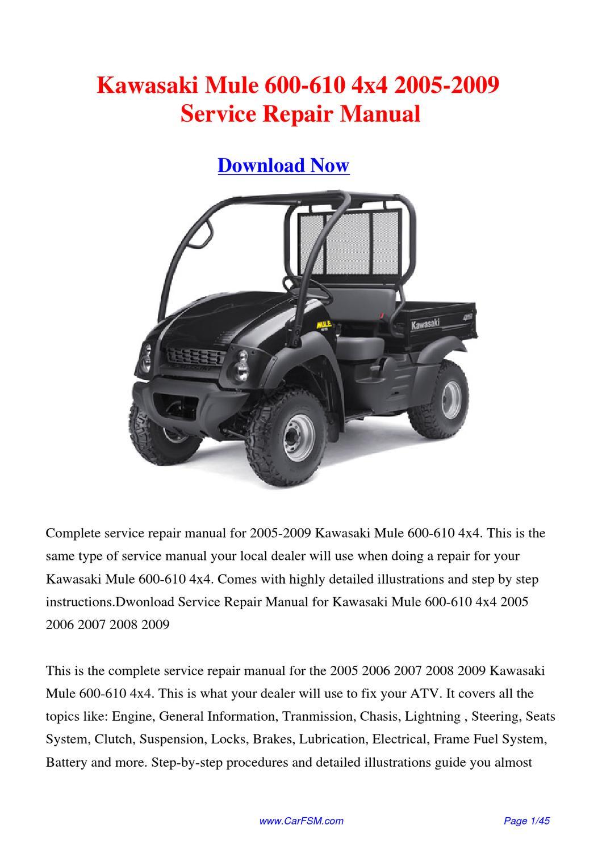 Kawasaki Mule User Manual