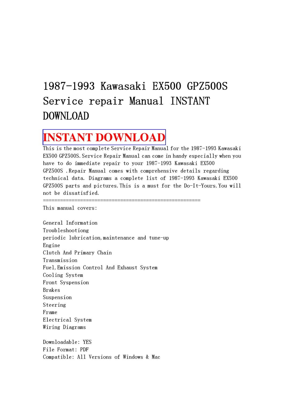 Kawasaki Er 6 Wiring Diagram Pdf Library Ex500 Diagrams 5 Service Manual Free Download