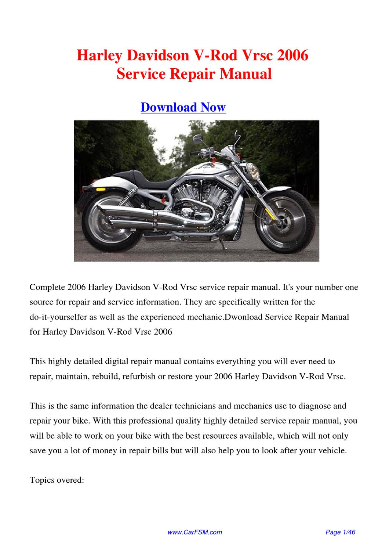 2006 Harley Davidson V