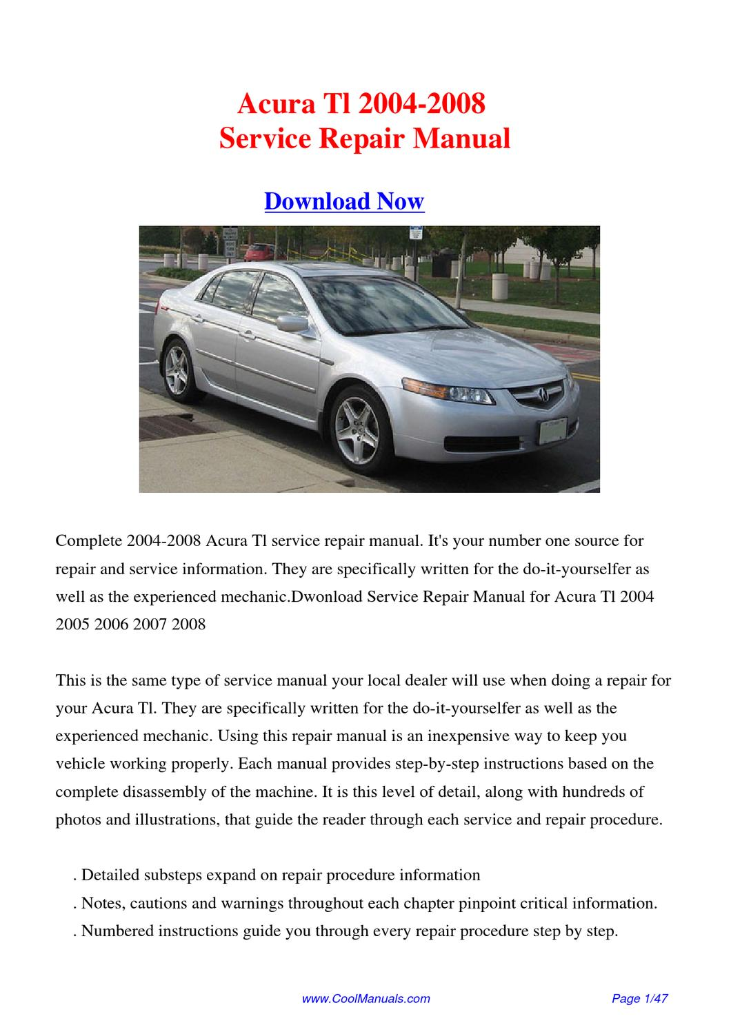 2004 Acura Tl A Manual Guide