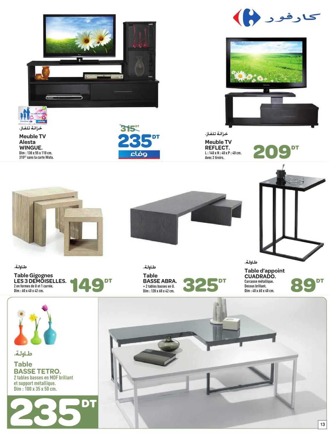 catalogue carrefour foire aux meulbes by carrefour tunisie issuu. Black Bedroom Furniture Sets. Home Design Ideas