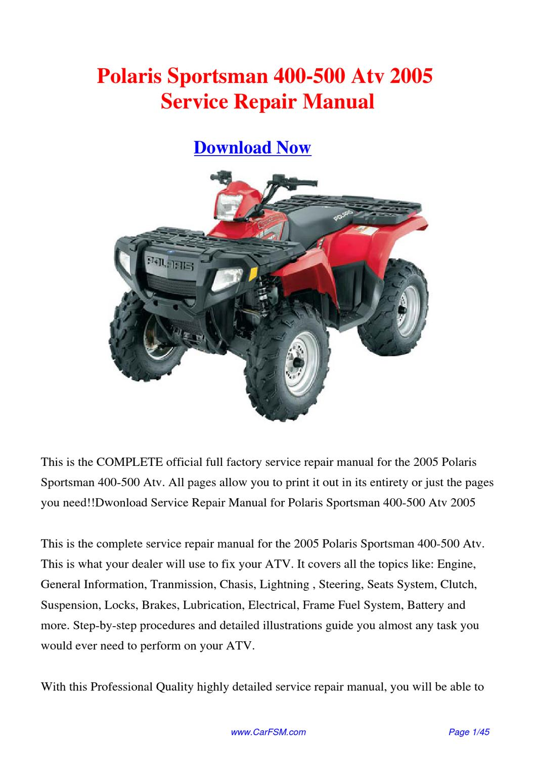 2002 polaris Ranger pdf manual
