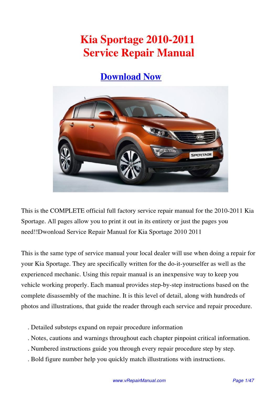 Download Kia Sportage 2010