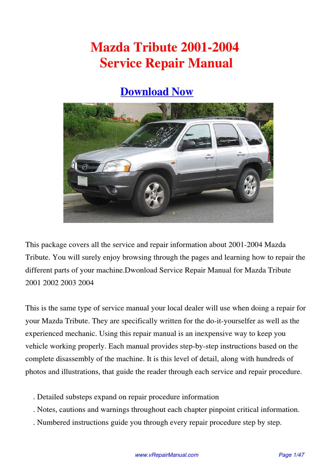service manual 2003 mazda tribute manual down load. Black Bedroom Furniture Sets. Home Design Ideas