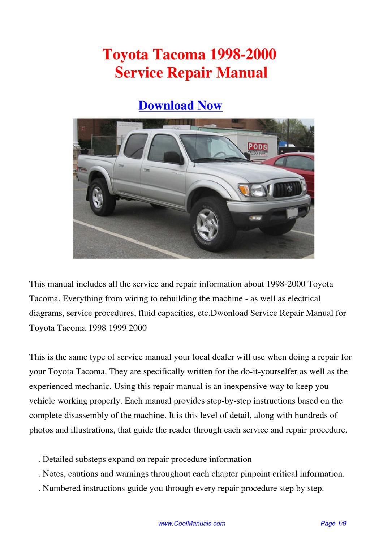 2000 toyota Tacoma repair Manual