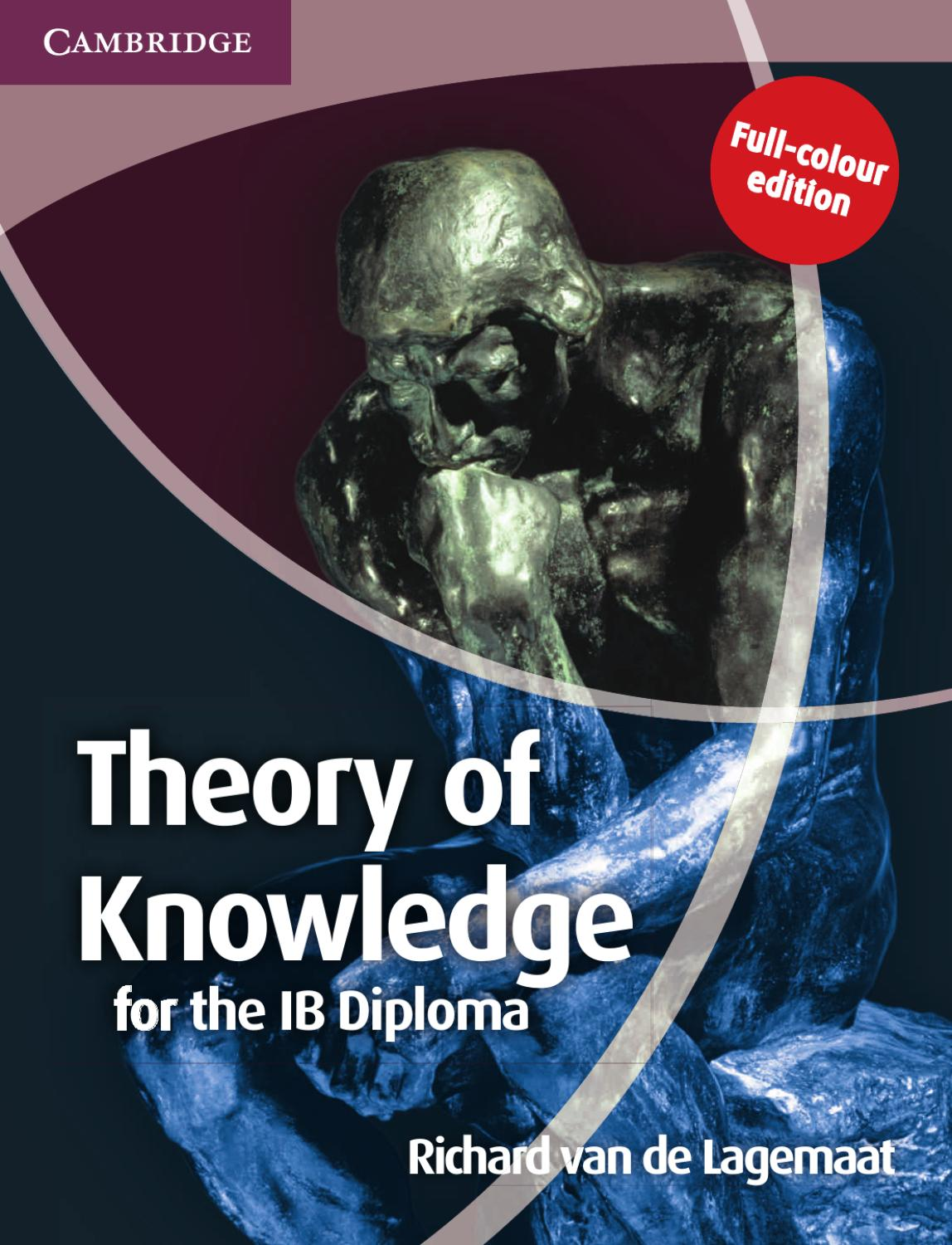 ib theory of knowledge essay surviving ib tok year to year acs i  theory of knowledge for the ib diploma second edition by theory of knowledge for the ib