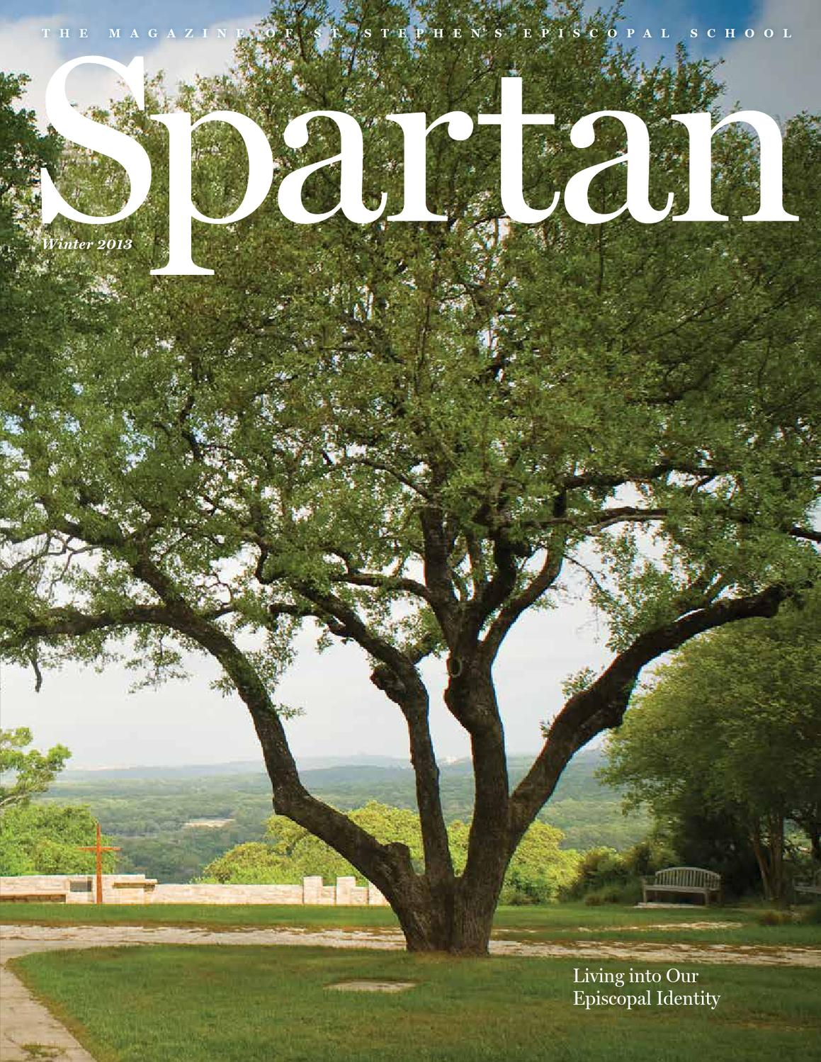 Spartan Magazine Winter 2013 By St Stephen39s Episcopal School