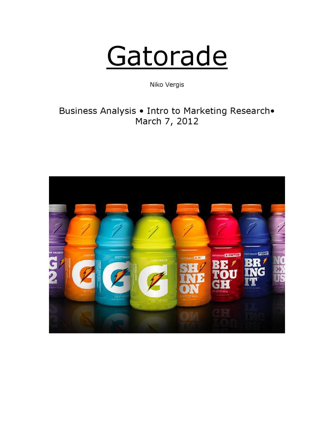 gatorade essay Conclusion we believe that gatorade is better than powerade gatorade is healthier than powerade gatorade is better for you when you play sports.