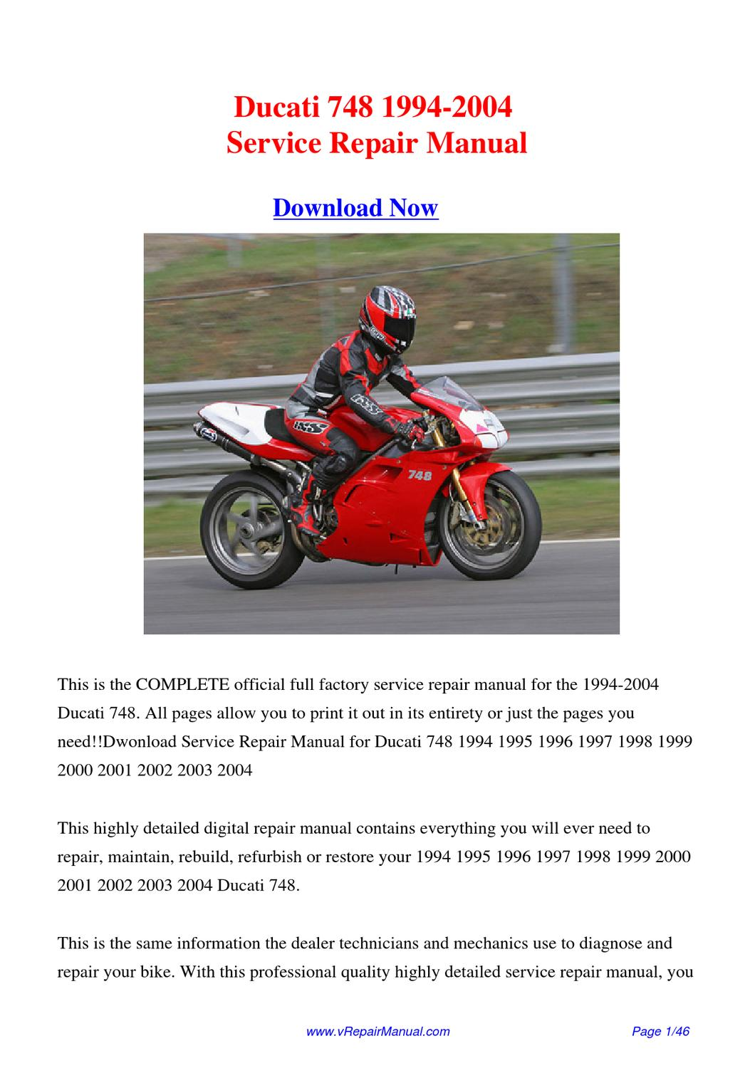 Ducati 748 User Manual Auto Electrical Wiring Diagram 1999 996 1994 2004 Workshop By Huang Kung