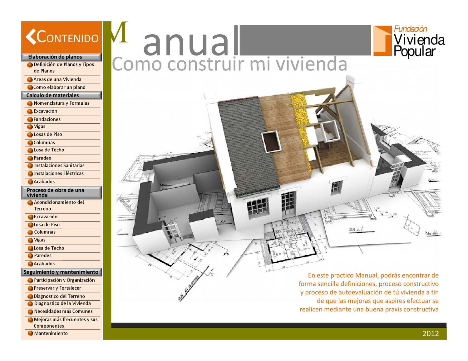 Manual c mo construir mi vivienda by jennifer matute issuu - Construir una vivienda ...