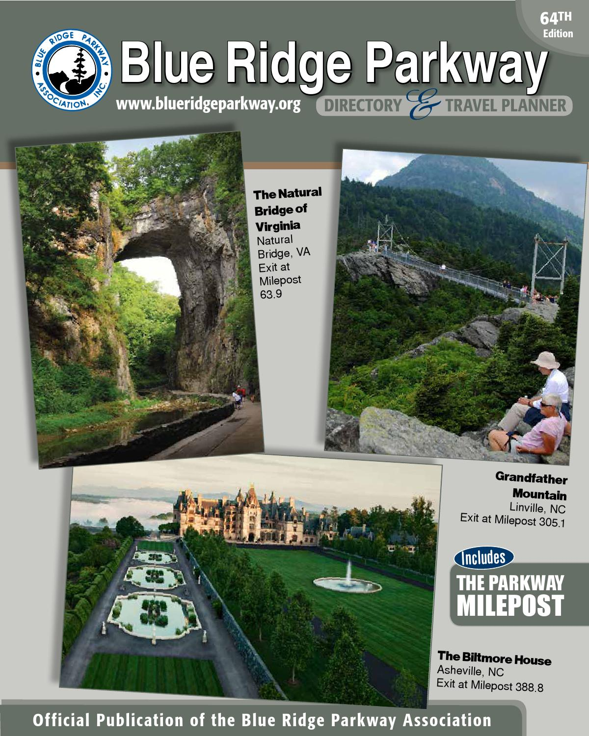 Blue Ridge Parkway Directory & Travel Planner - 64th ...