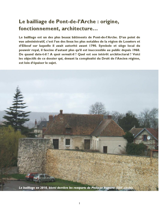 Le bailliage de pont de l arche origine fonctionnement for Origine architecture