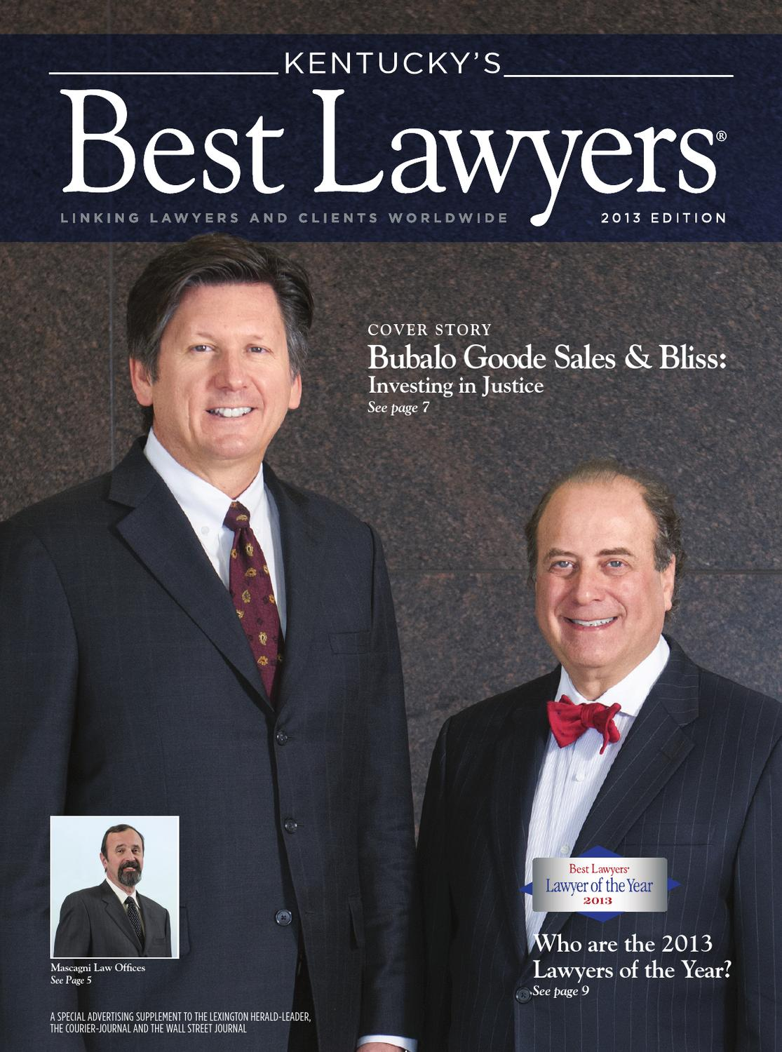 Kentucky S Best Lawyers 2013 By Best Lawyers Issuu