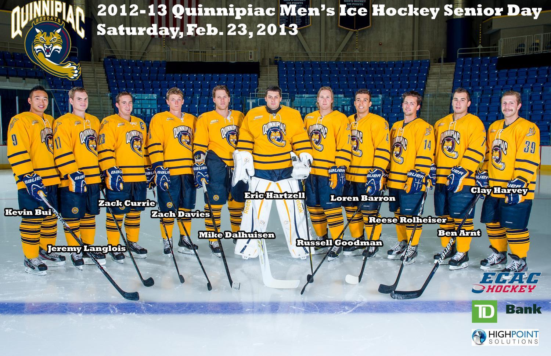 QU Men's Ice Hockey 2012-13 Senior Night Program by Jack ...