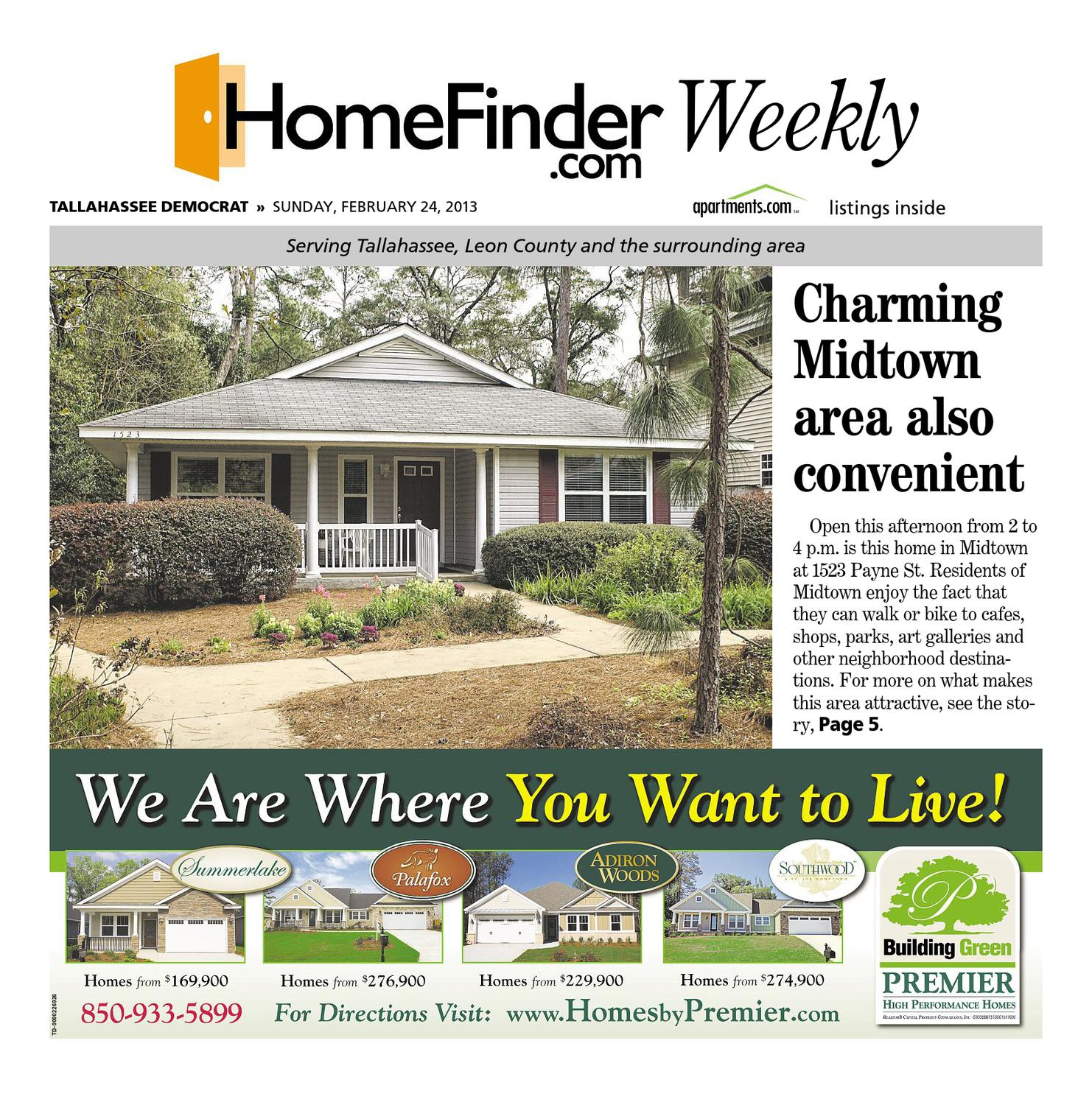 Home Finder For Rent: Homefinder.com Weekly By Tallahassee Democrat