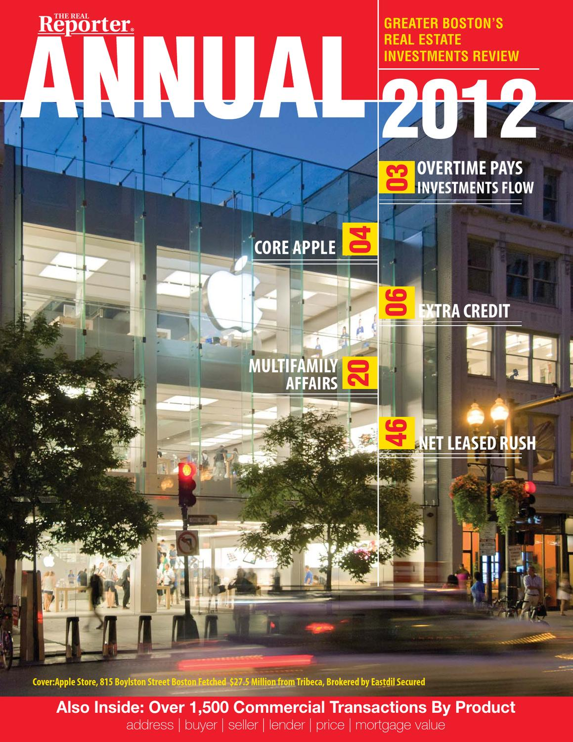 annual real estate investment report greater boston by the real annual real estate investment report greater boston by the real reporter issuu