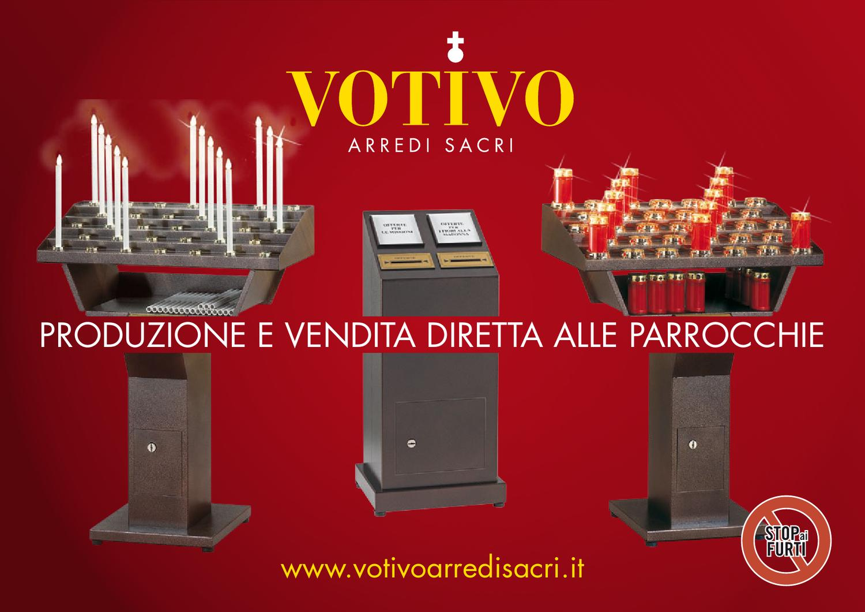 Candelieri votivi elettrici con cassaforte blindata stop for Arredi sacri