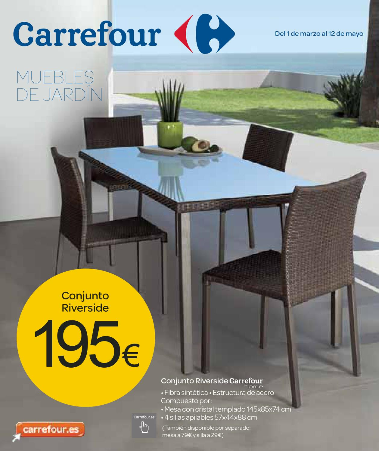 Catalogo de muebles de jardin carrefour by milyuncatalogos for Mesa plegable carrefour