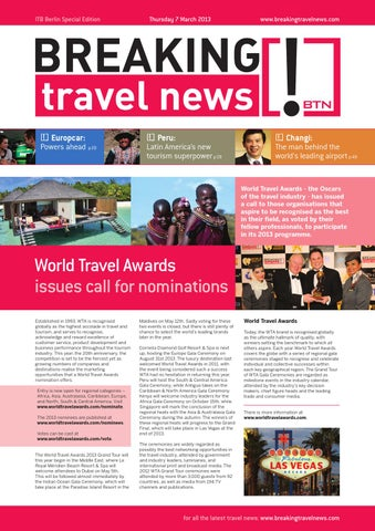 Breaking Travel News Special Edition - ITB Berlin 2013 Day 2