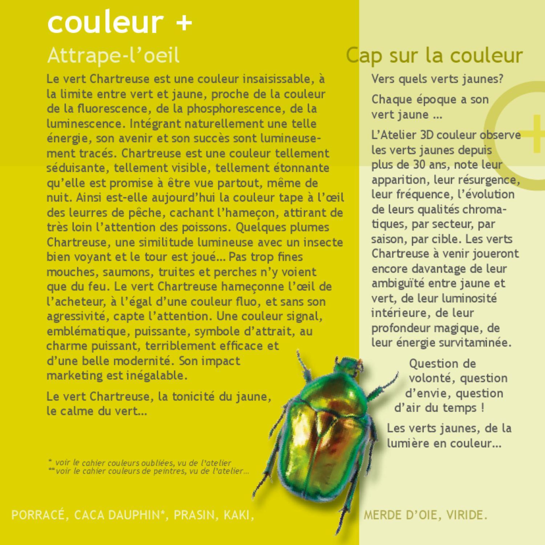 8 du vert au jaune la couleur lumi re by atelier 3d couleur page 18 issuu. Black Bedroom Furniture Sets. Home Design Ideas